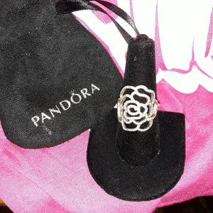 Pandora Shimmering Rose Ring